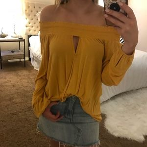 Nordstrom Off the Shoulder Blouse in Yellow